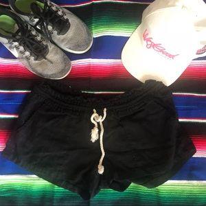 Roxy Drawstring Black Shorts